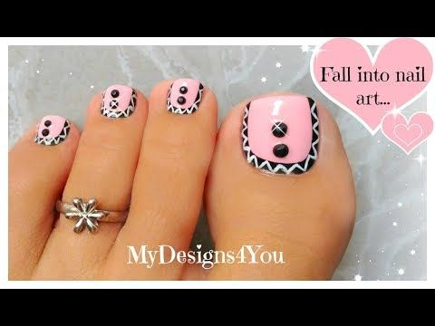 Pink Aztec Toenail Art Design Pedicure Tutorial Youtube