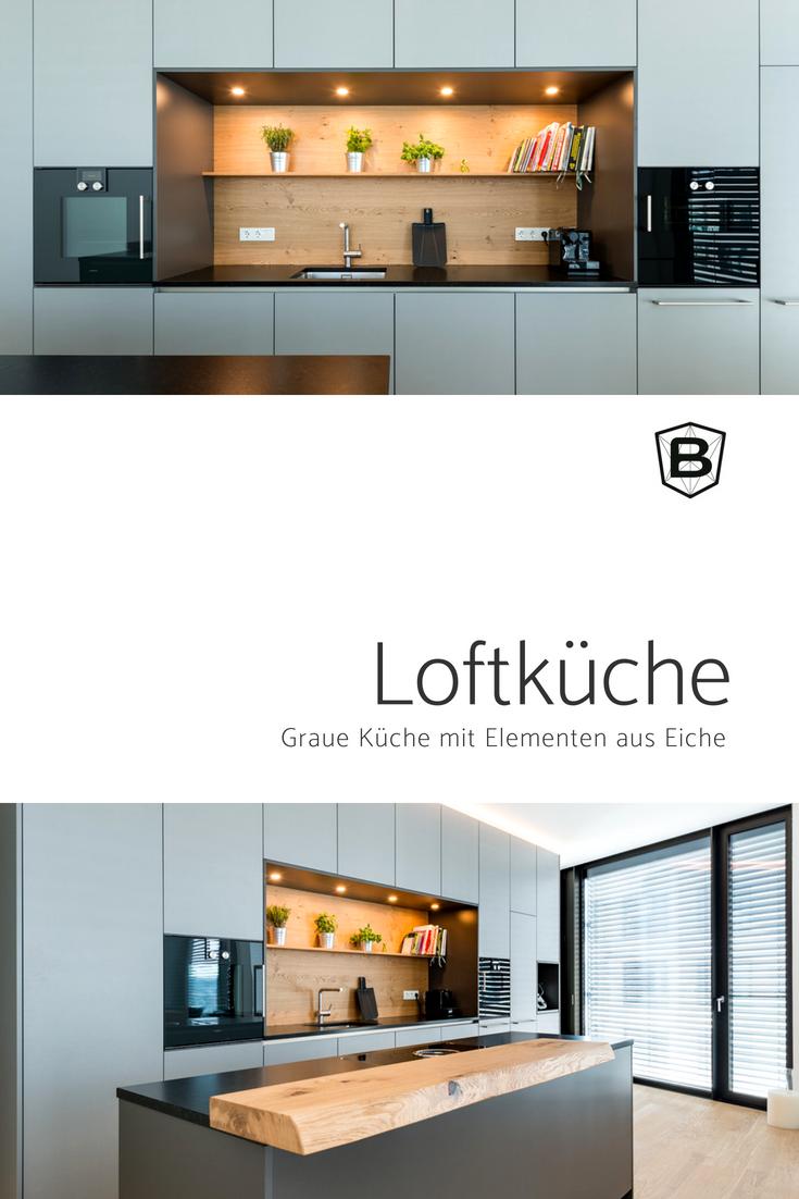 Küchenideen eiche loftküche in grau  küchenideen  pinterest  apartment ideas