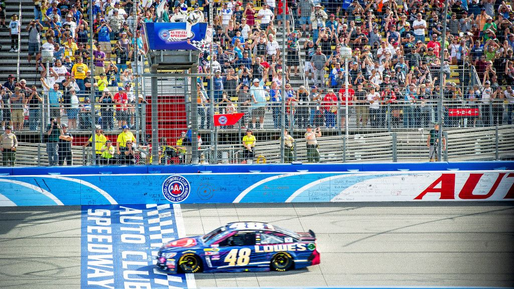 Does Auto Club Speedway's old track make better racing for