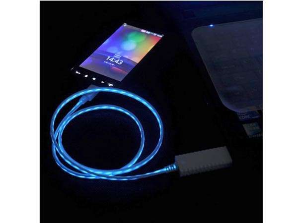 Flowing Light USB Cables | Tech Organization | Charging cable