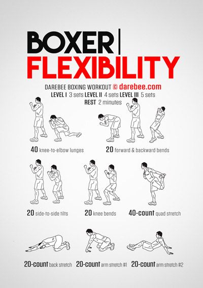 Boxer Flexibility Workout Boxing Training Workout Flexibility Workout Kickboxing Workout