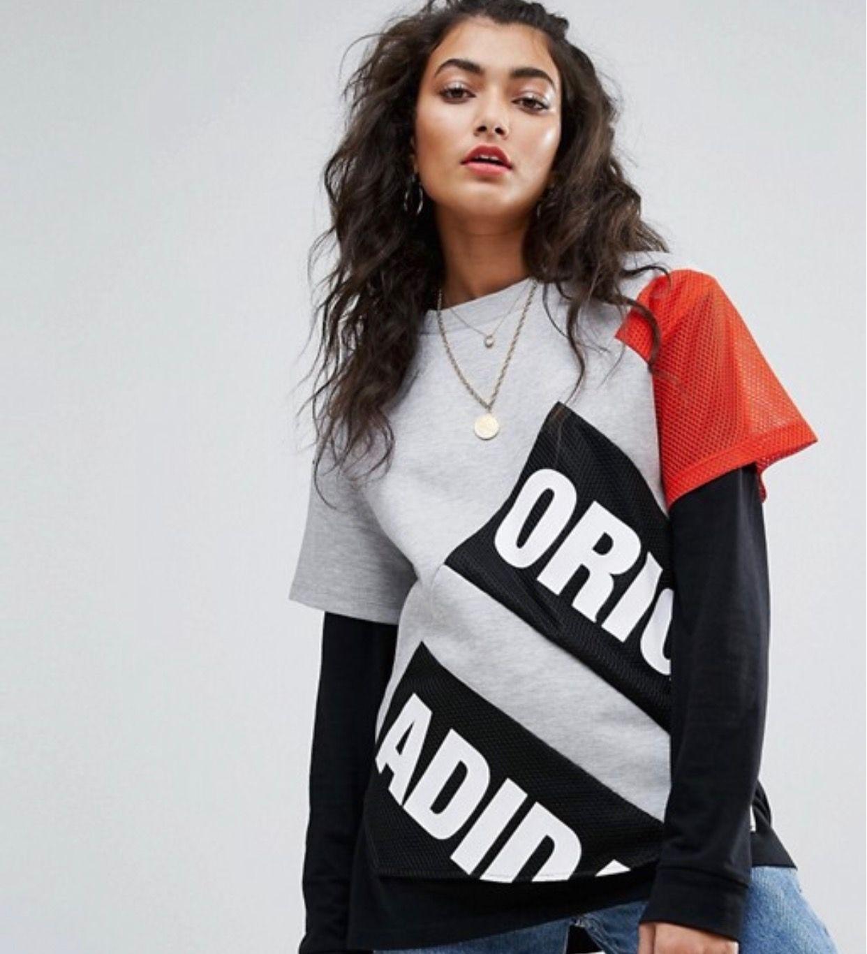 88084be84f Camisas De Gimnasia · Camisetas Para Mujeres · Ropa Para Mujeres · Zapatos  · ASOS Adidas Original Top