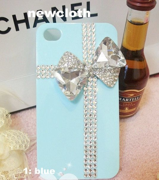 iPhone Case studded clean Jewels crystals iPhone 4 by newcase66