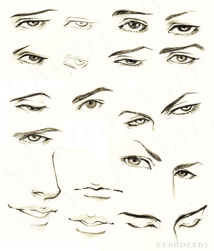Tutorial Eyes Male For Manga Por Nekodeedy No Me Parece Un Seguro Manga Para Mi Eye Drawing Tutorials Face Drawing Guy Drawing