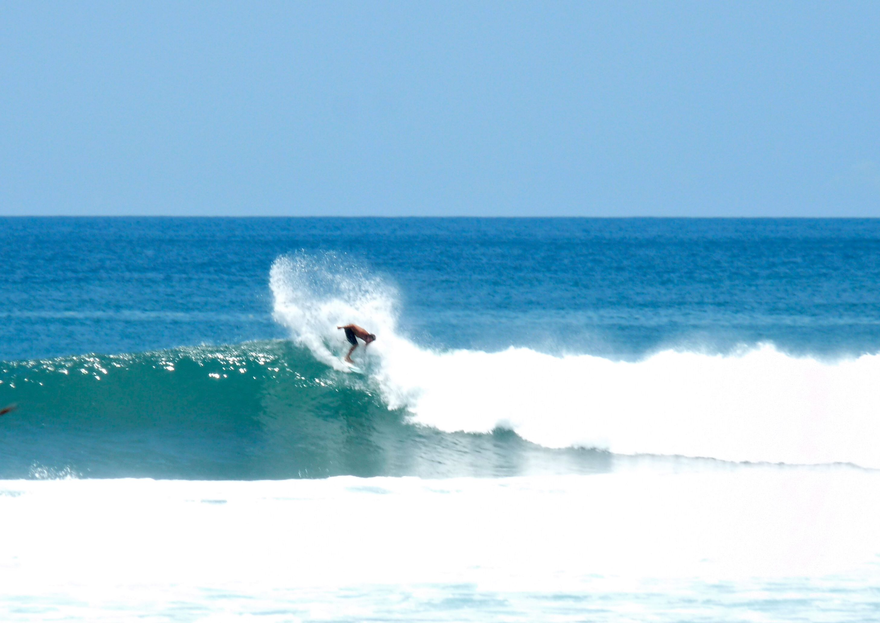 Playa Negra. This is our sweet little wave. (when small)