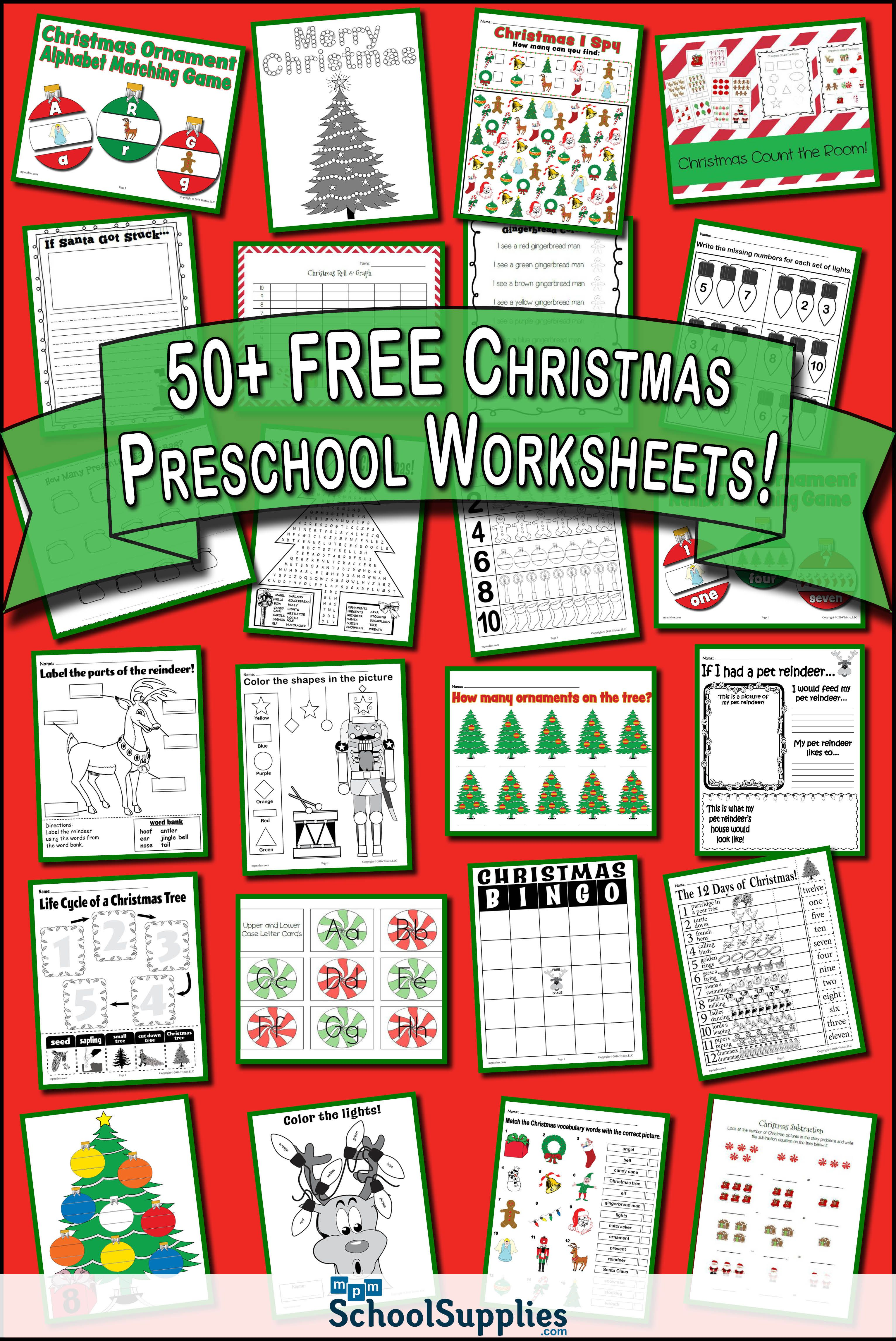 Over 50 Free Christmas Preschool Worksheets Our Christmas