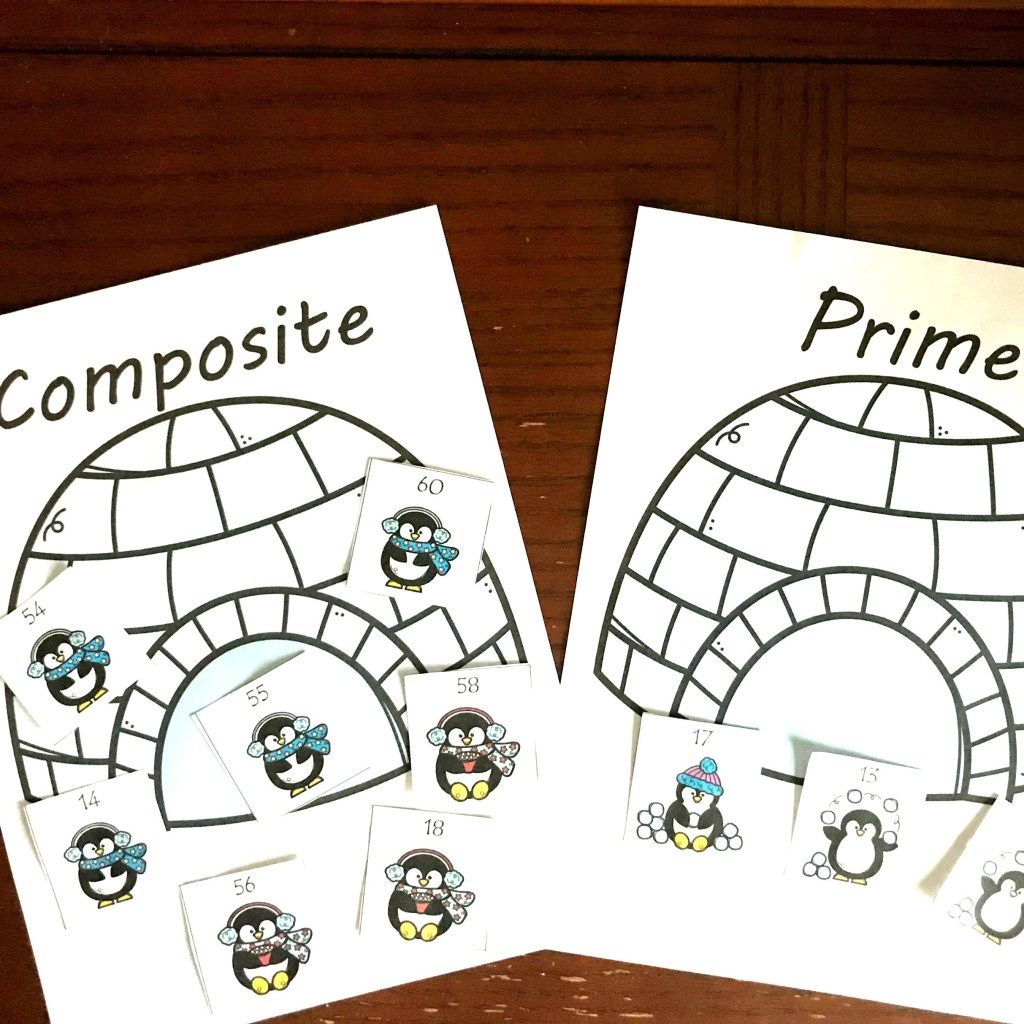 Free Composite And Prime Numbers Activity Wtih A Winter