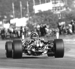 Dan Gurney at Belgian GP 1967. He won the race with his Eagle-Weslake T1G