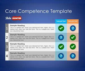 Free Core Competence Powerpoint Template Is A Free Slide Design For