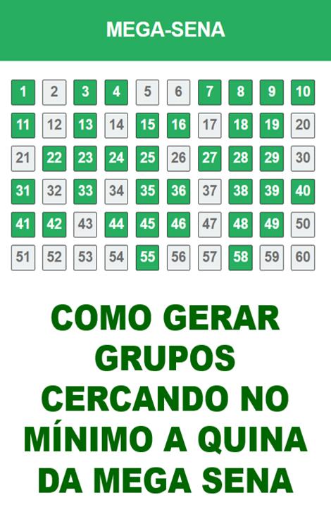 Como Cercar Os 5 Pontos Da Mega Sena Em Grupos De 25 Numeros Mega Sena Numeros Da Mega Sena Lotomania