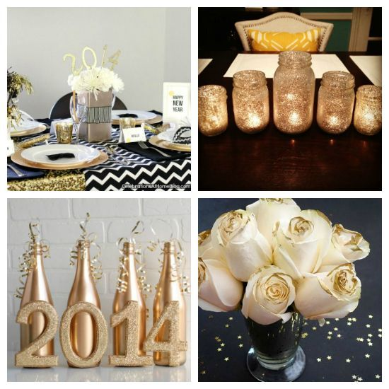 Attractive Black, White U0026 Gold New Yearu0027s Eve Party Ideas