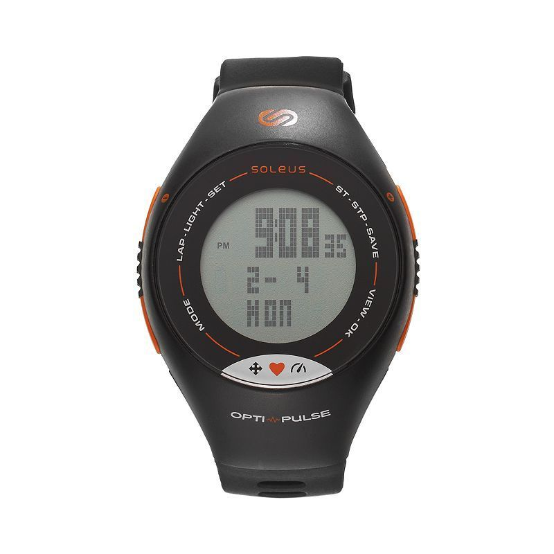 Soleus Unisex Pulse Activity Tracker & Heart Rate Monitor Watch - SH006030, Black