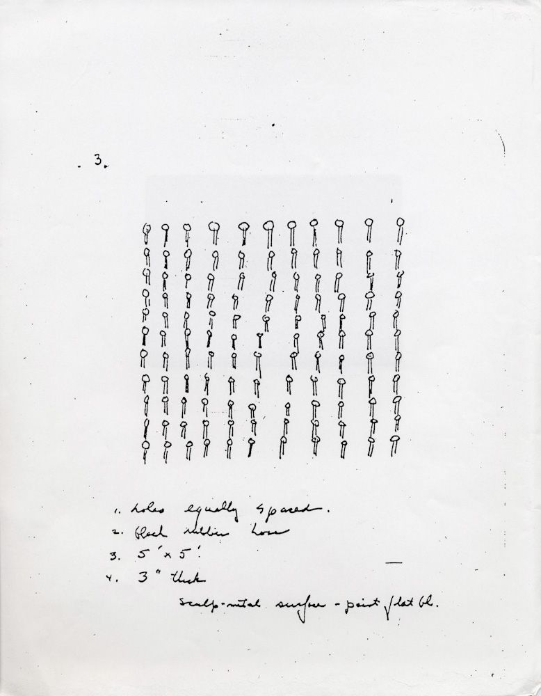 Xerox of Eva Hesse Working Drawing (Page from