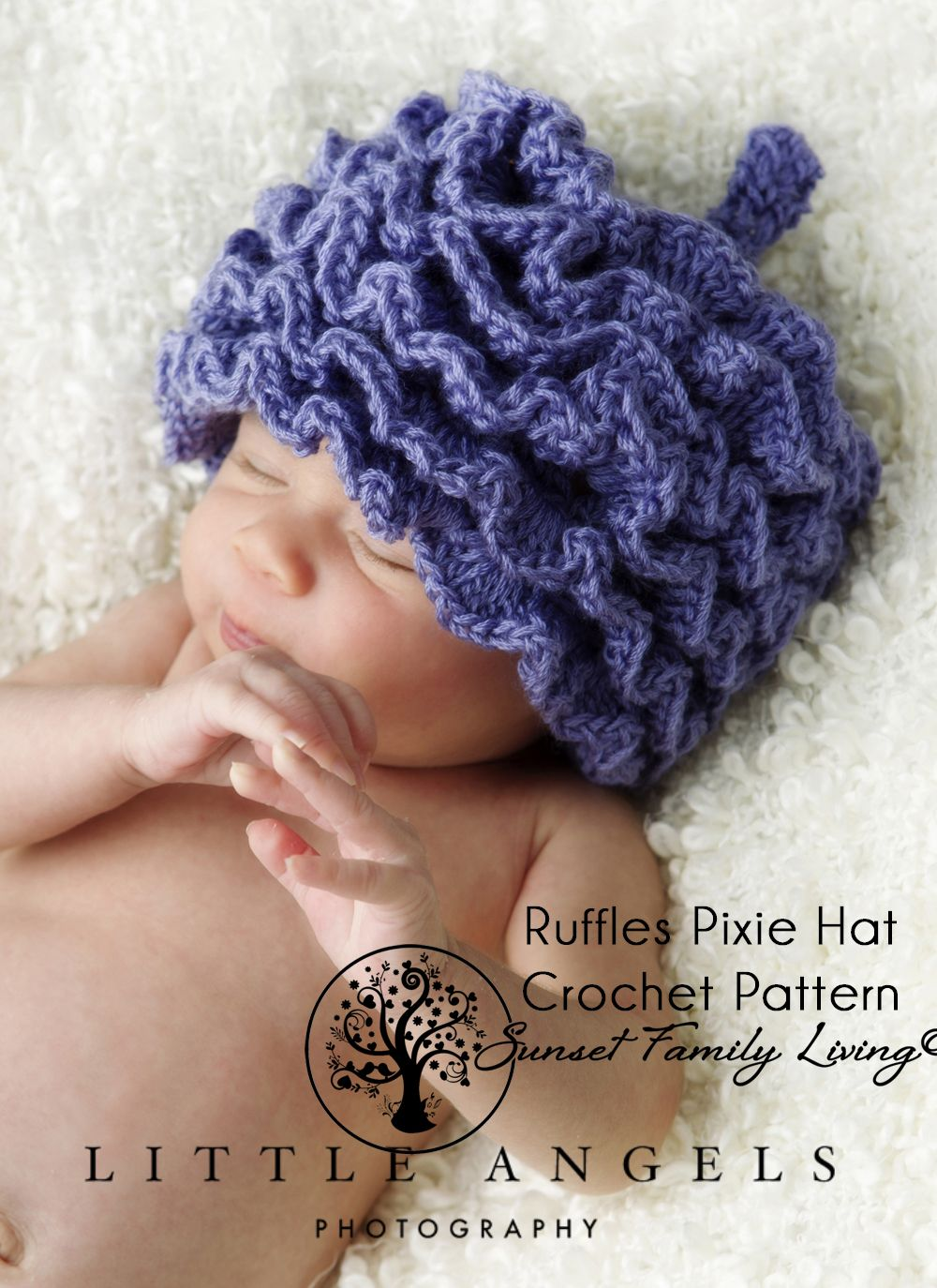 Ruffles Pixie Hat Crochet Pattern | Crochet-Hats | Pinterest | Hat ...