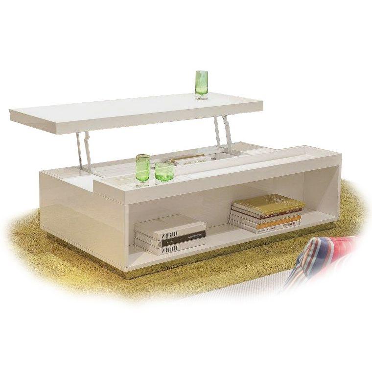 Modern White Transforming Coffee Table Sanda. Lift Top ...