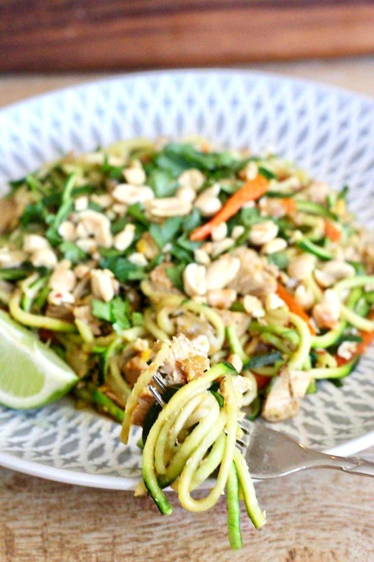 21 Day Fix Chicken Pad Thai Zoodles Low Carb Gluten Free Dairy