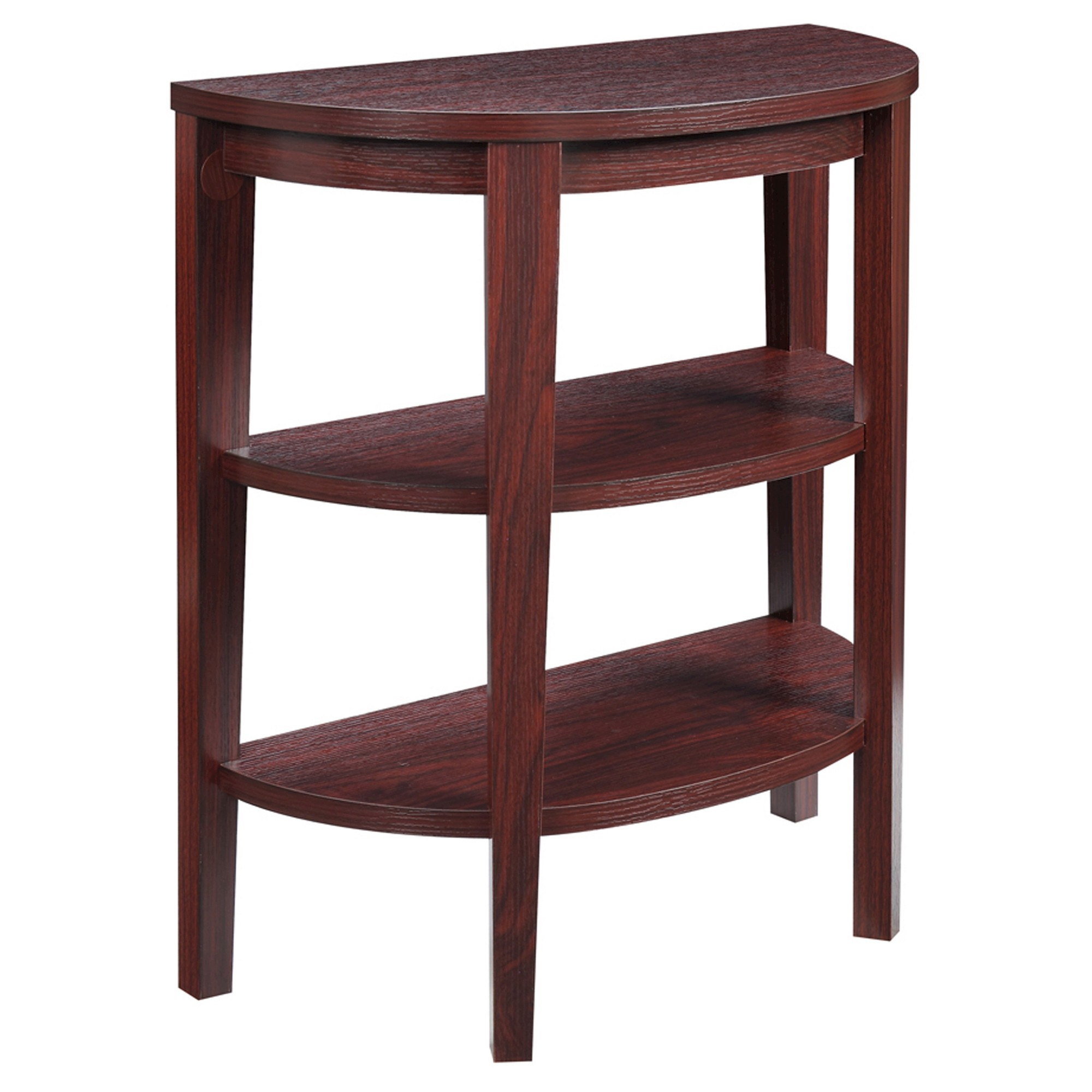 Newport 3 Shelf Console Mahogany Johar Furniture