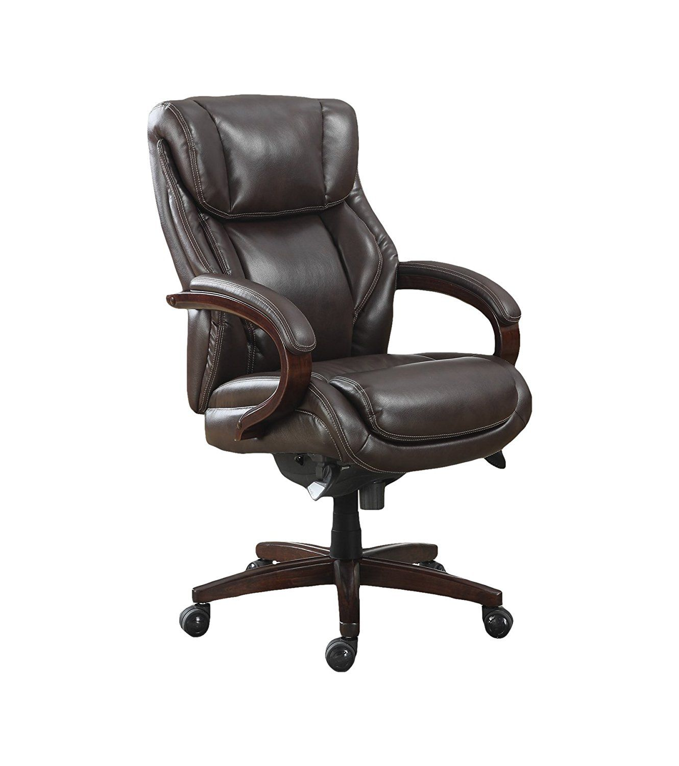 La Z Boy Trafford Big Tall Executive Bonded Leather Office Chair Covers Venue Dressing This Is My Exact Lay Desk At Remax But Mine
