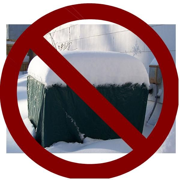 It S Snowing Don T Cover Your Air Conditioning Condenser Air