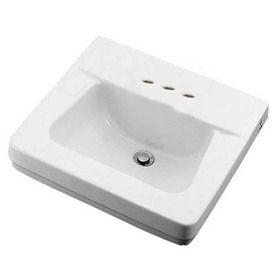 Crane Plumbing Norwich White Wall Mount Rectangular Bathroom Sink With Overflow With Images Rectangular Sink Bathroom
