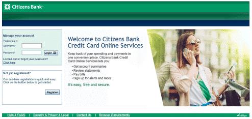 citizens bank corporate credit card login