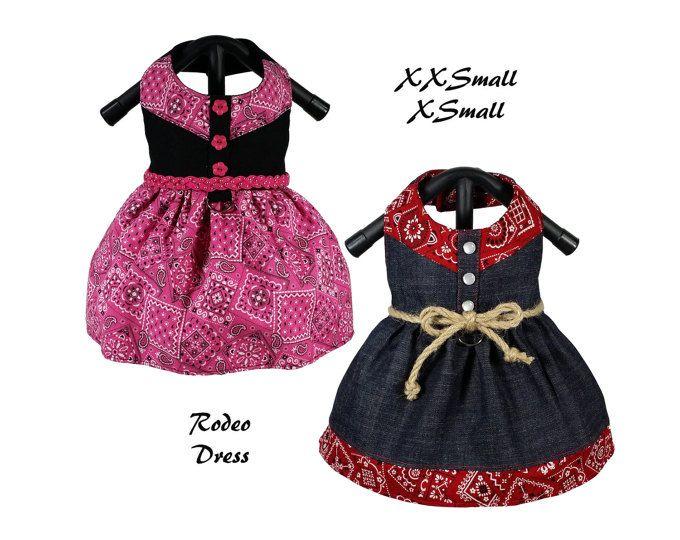 Rodeo Dog Dress Pattern Xxsmall Xsmall Dog Clothes Sewing