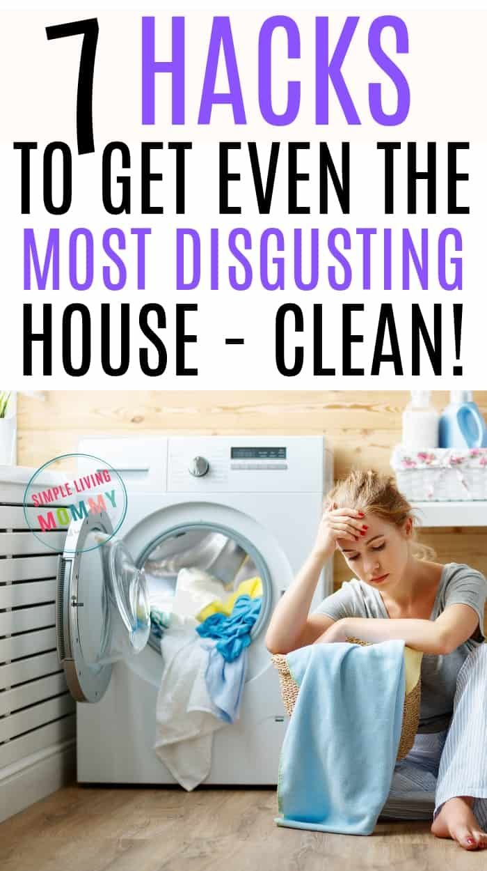 My House is a Disgusting Mess - Lazy House Cleaning Tips That Work! #cleaning