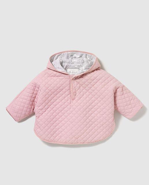 Abrigo tipo capa de bebé niña Dulces en rosa guateado  ae32901ed7b