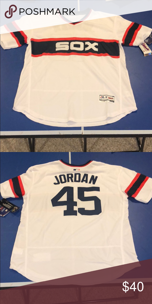 free shipping 98237 91024 Chicago White Sox Jersey Michael Jordan baseball jersey. New ...