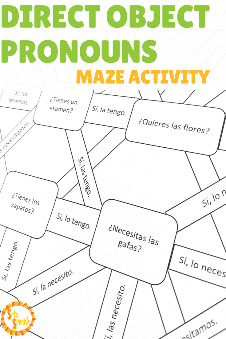 Are You Looking For A Fun Activity To Practice Direct Object Pronouns In Spanish This Tw Spanish Grammar Activities Learning Spanish Spanish Language Learning [ 1102 x 735 Pixel ]