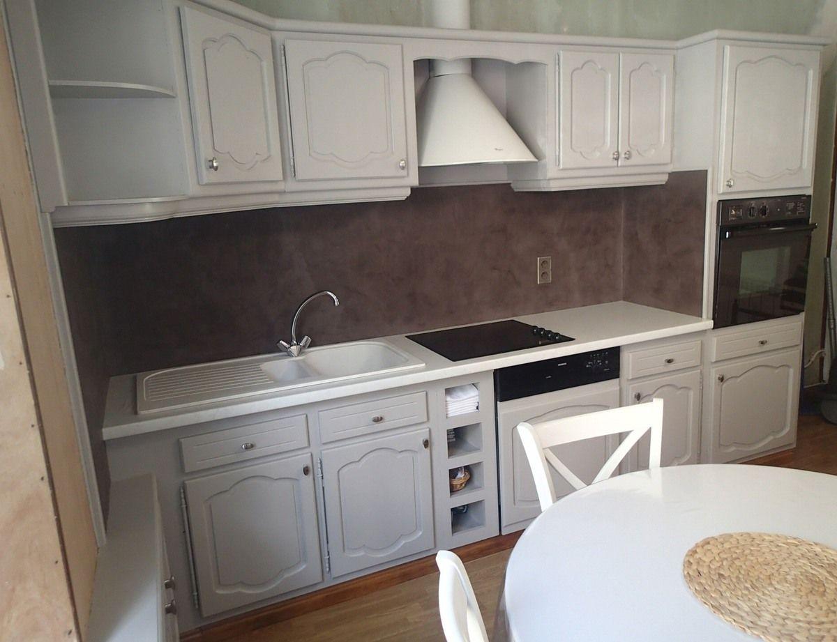 Trendy meubles de cuisine et faence relooks bton cir cacao for Faience ancienne cuisine