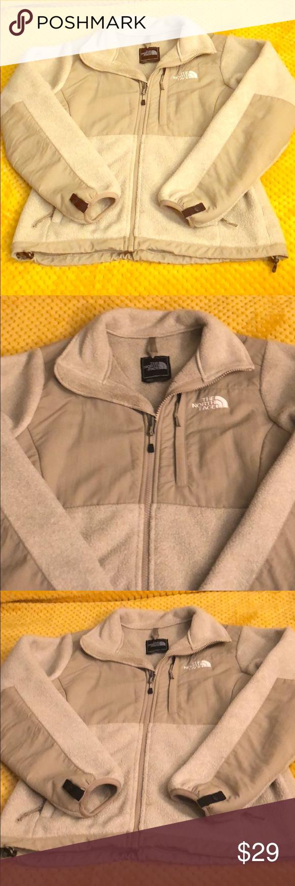 The North Face Fleece Jacket Beige Cream Size Xs North Face Fleece Jacket North Face Fleece Clothes Design [ 1740 x 580 Pixel ]