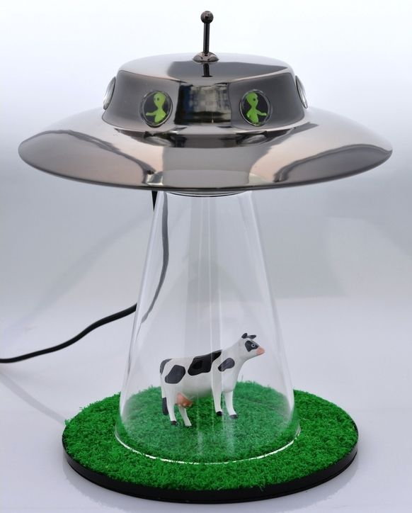 The Alien Abduction Lamp  I want to believe!