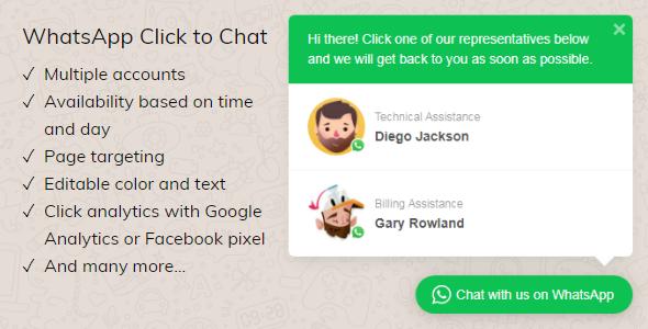 Whatsapp Click To Chat Plugin For Wordpress Socialmedia Wordpress Plugin Plugins Wordpress Wordpress Plugins