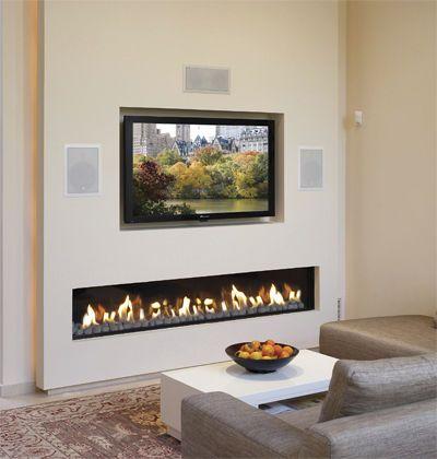 gas fireplace builtin open hearth clear 200 ortal usa