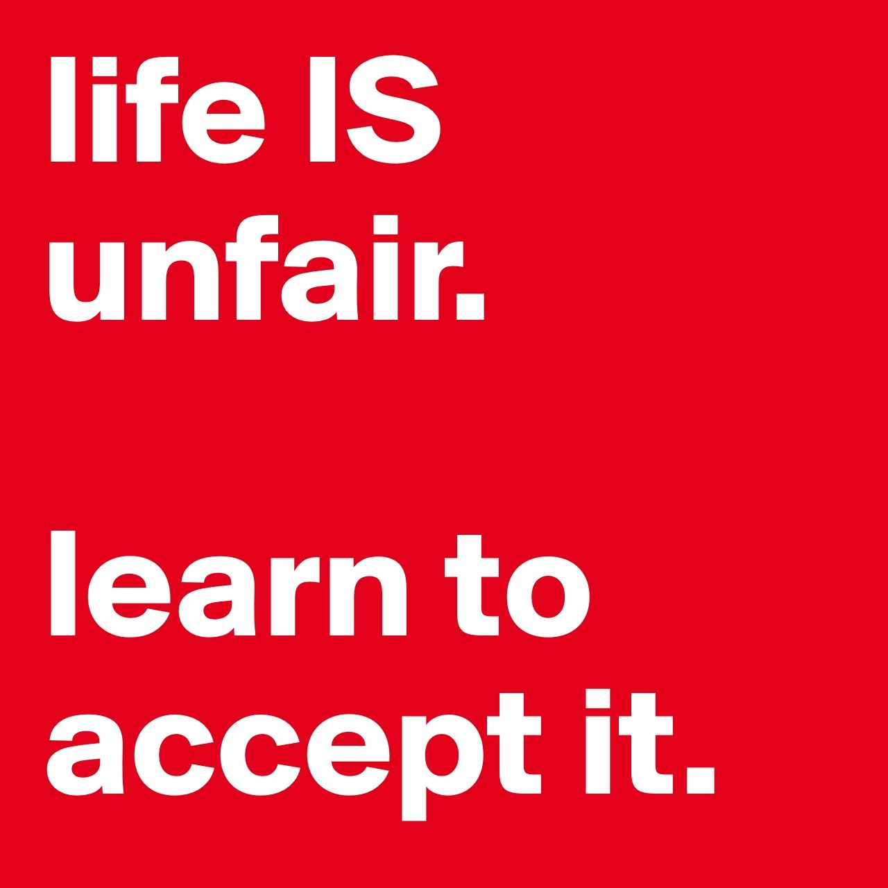 Life IS UNFAIR. #palaisipan