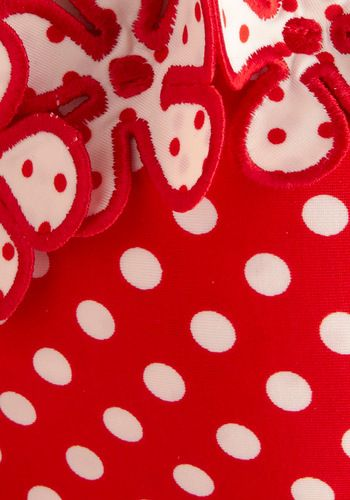 Betsey Johnson Comic Strip Sweetheart One Piece in Red