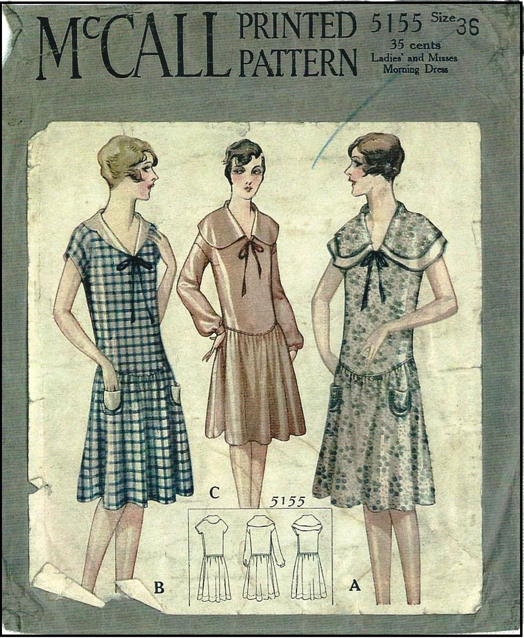1920s Ladies Frock Sewing Pattern - McCall 5155 | Style(s ...