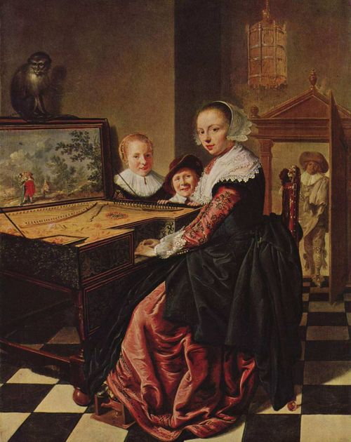 Genre barock  Jan Molenaer (Dutch, 1610 -1668) ~ Lady at the Spinet ~ Jan Miense ...