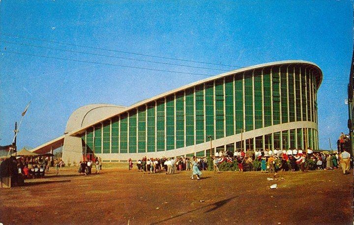 Vintage Image Dorton Arena Raleigh North Carolina Night City Tens Place Urban Architecture