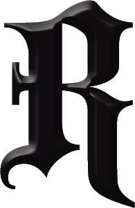 gothic letter r tattoo robin identity 35 illustration color