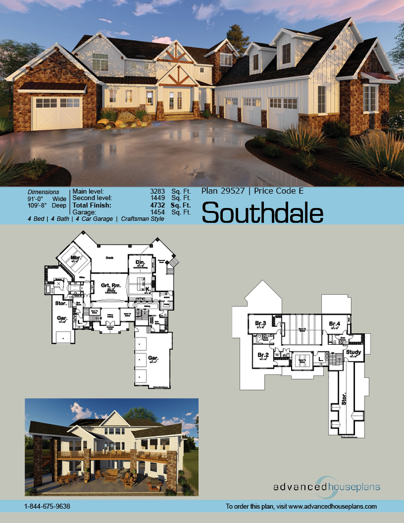 1 1 2 Story Craftsman House Plan Southdale Craftsman Style House Plans Craftsman House Plan Craftsman House