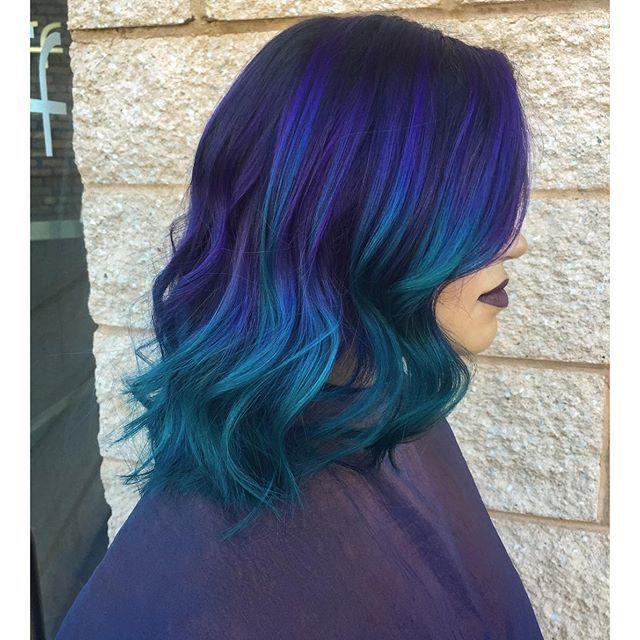 Https Instagram Com P 8tuep7g8av Dark Purple Hair Hair Styles Hair