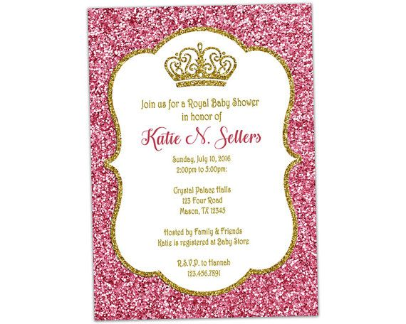 pink and gold princess baby shower invitations little princess baby shower invitation royal baby
