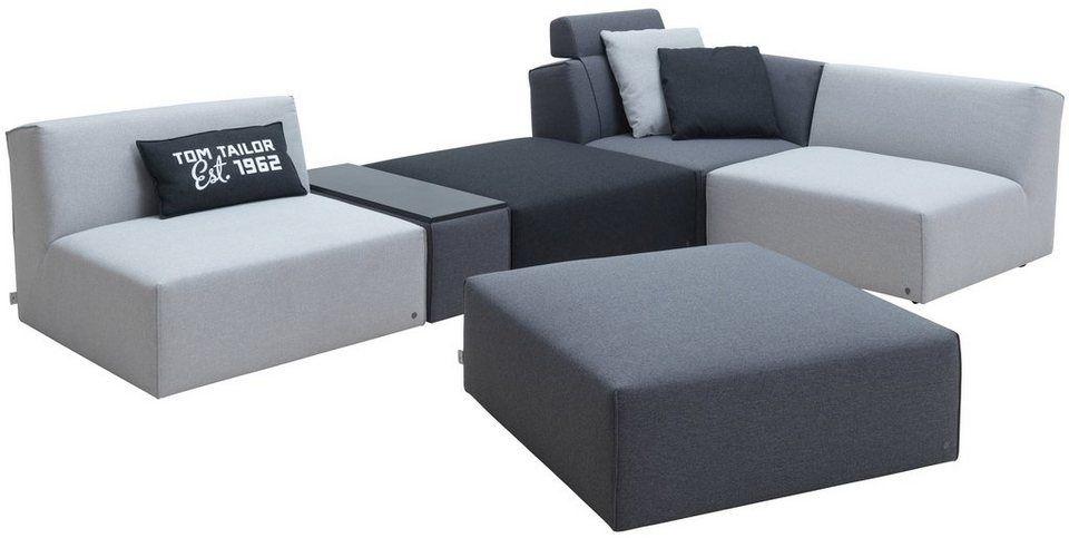 Tom Tailor Wohnlandschaft Mit Integriertem Tischelement Elements Grey Shadows Wohnen Wohnlandschaft Mobel Sofa