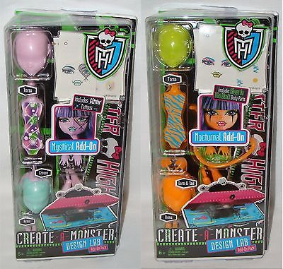 Action Figures 40150 Monster High Design Lab Create A Monster Add