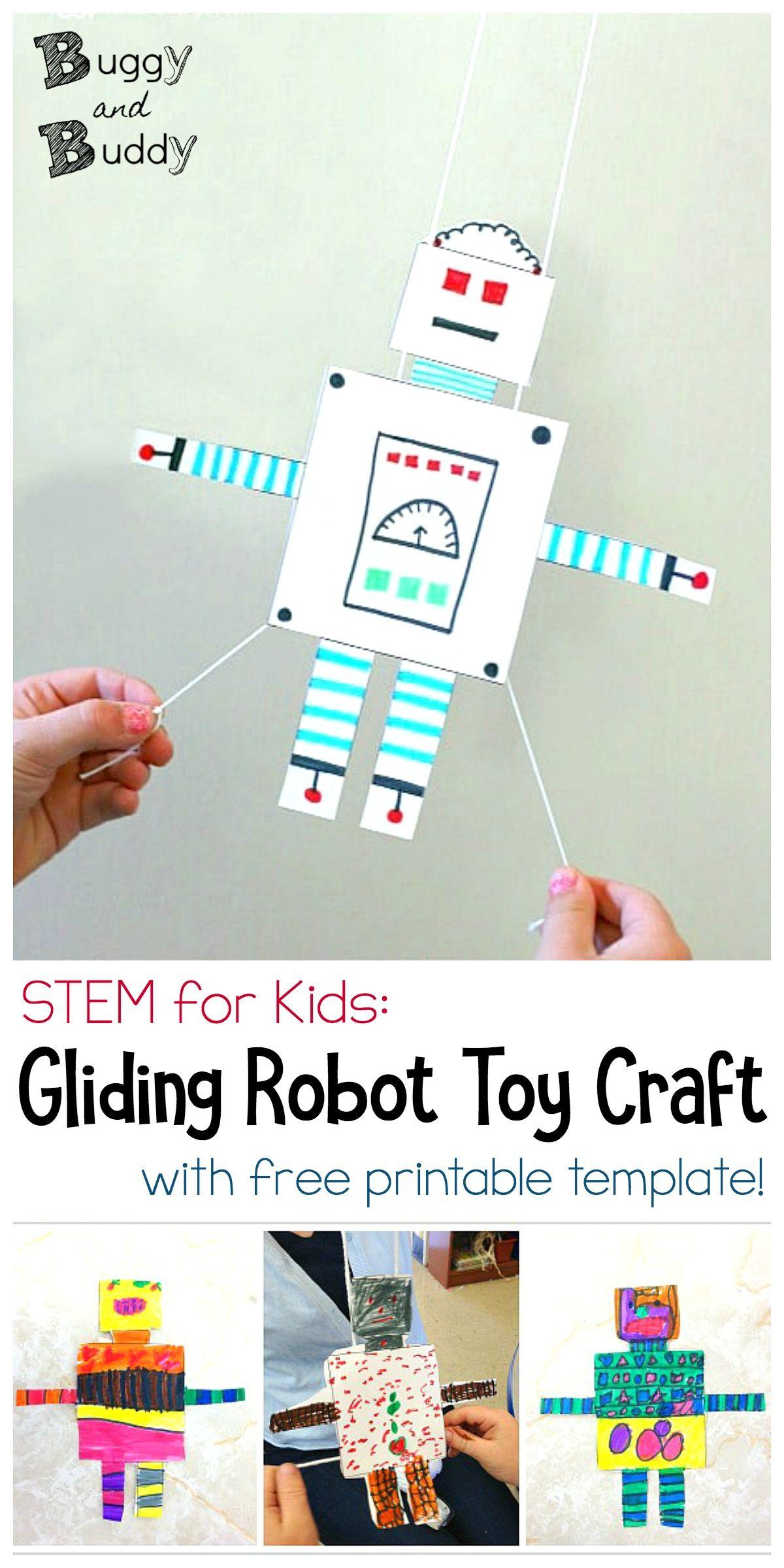 stem activity for kids free printable gliding robot robots