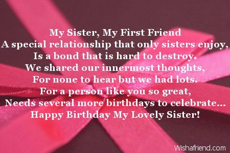 Sister Birthday Poems With Images Friend Birthday Quotes