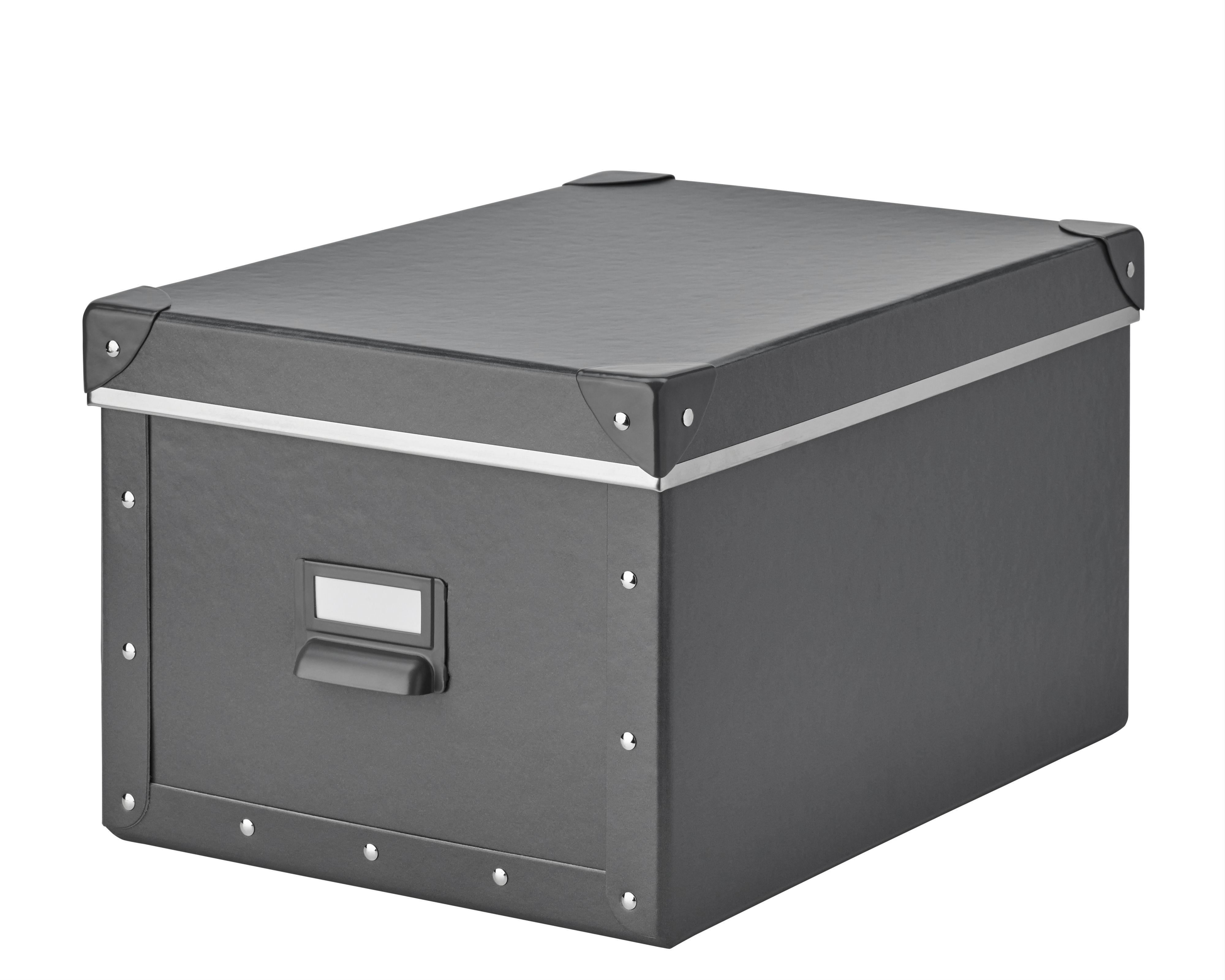 Fjalla Storage Box With Lid Dark Gray Brianna Elisabeth S