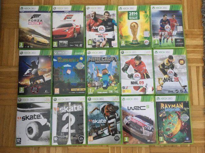 Xbox 360 SUPER pelipaketti+lisälaitteet